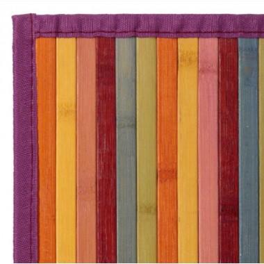 Alfombra bambú multicolor